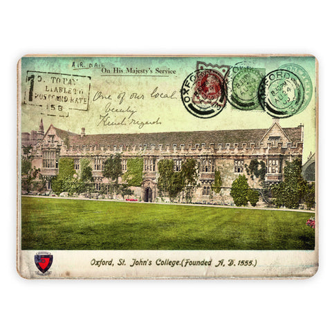 St Johns College, Oxford Placemat