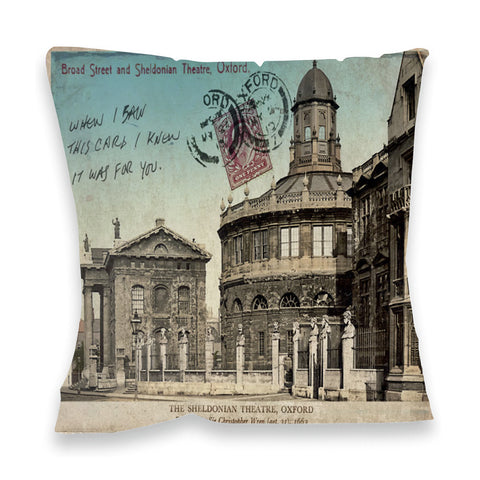 Broad Street and Sheldonian Theatre, Oxford Fibre Filled Cushion