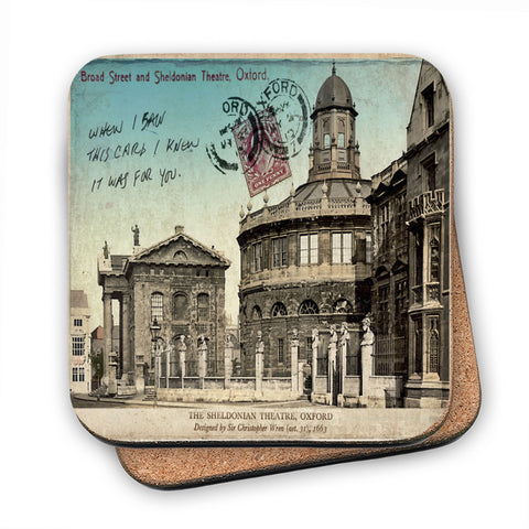 Broad Street and Sheldonian Theatre, Oxford MDF Coaster