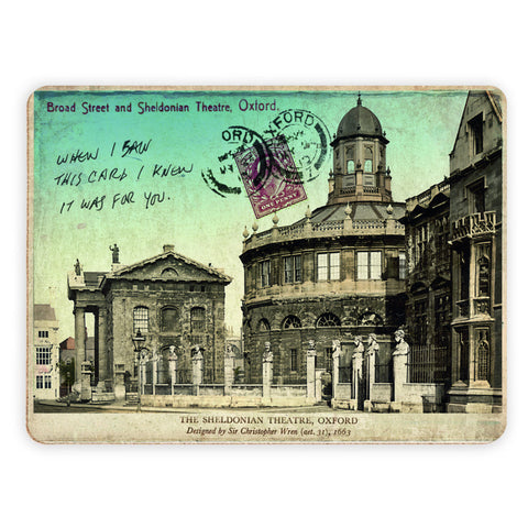 Broad Street and Sheldonian Theatre, Oxford Placemat