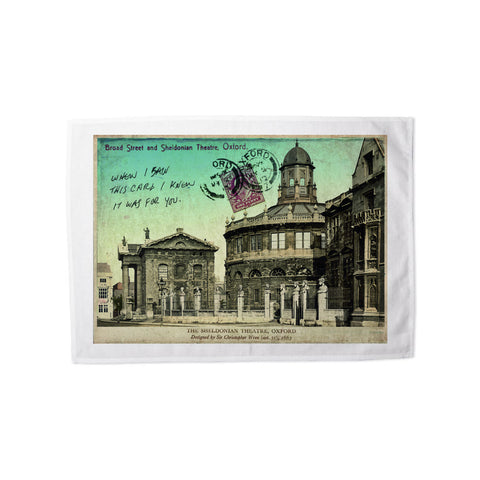 Broad Street and Sheldonian Theatre, Oxford Tea Towel