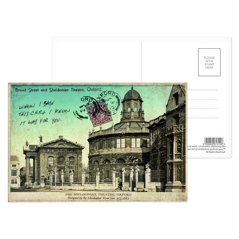 Broad Street and Sheldonian Theatre, Oxford Postcard Pack