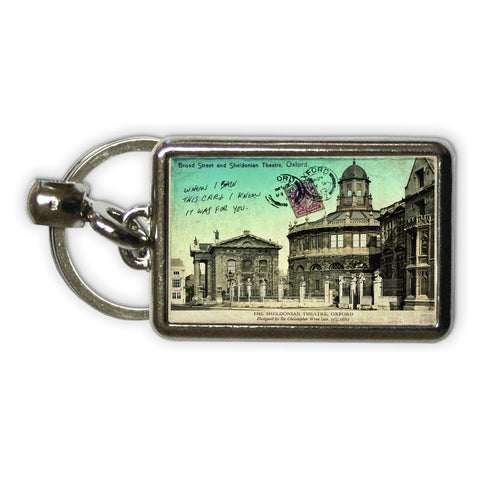 Broad Street and Sheldonian Theatre, Oxford Metal Keyring