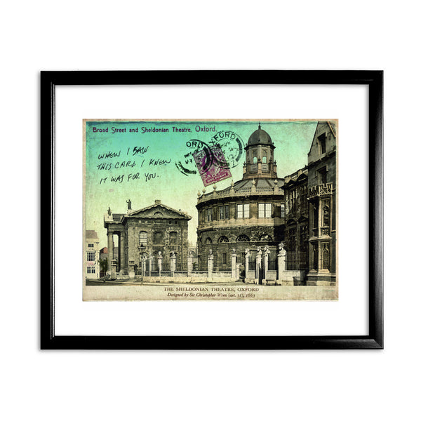 Broad Street and Sheldonian Theatre, Oxford 11x14 Framed Print (Black)