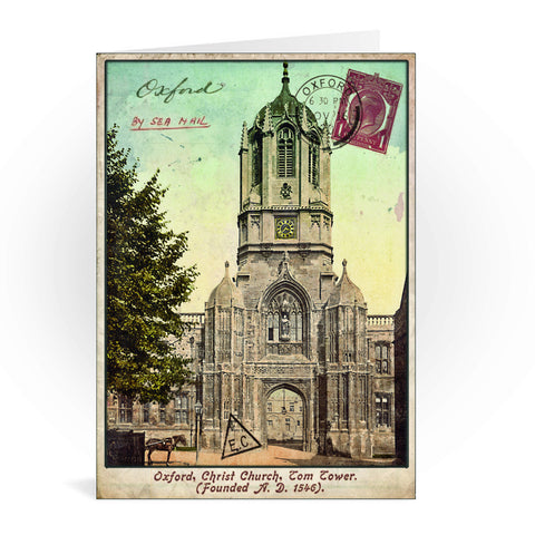 Christ Church College, Oxford Greeting Card 7x5