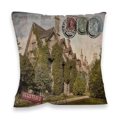 Worcester College, Oxford Fibre Filled Cushion