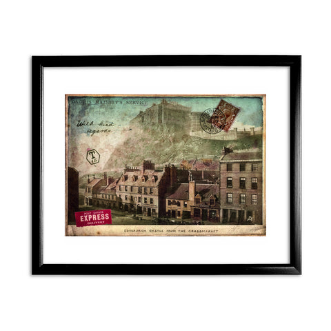 Edinburgh Castle, Scotland 11x14 Framed Print (Black)