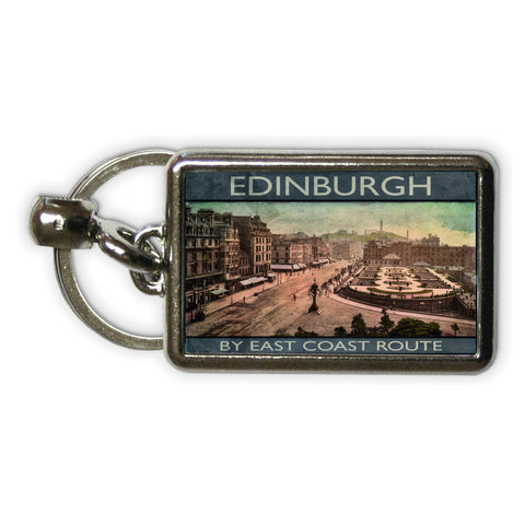 Edinburgh, Scotland Metal Keyring