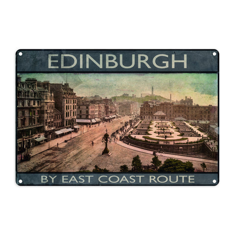 Edinburgh, Scotland Metal Sign