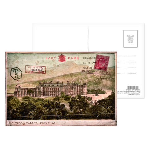 Holyrood Palace, Edinburgh, Scotland Postcard Pack