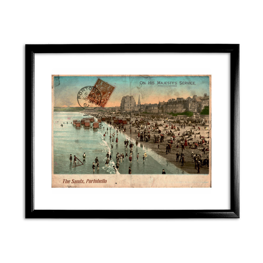 The Sands, Portobello, Scotland 11x14 Framed Print (Black)