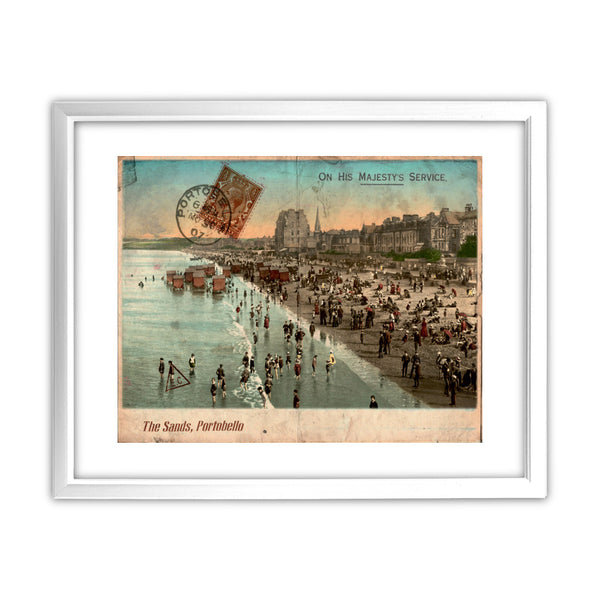 The Sands, Portobello, Scotland 11x14 Framed Print (White)