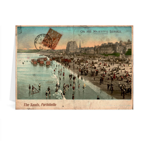 The Sands, Portobello, Scotland Greeting Card 7x5