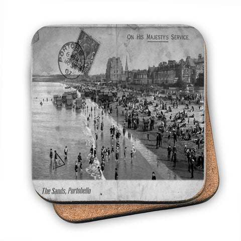 The Sands, Portobello, Scotland MDF Coaster