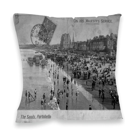 The Sands, Portobello, Scotland Fibre Filled Cushion