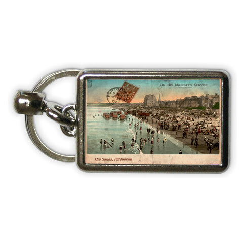 The Sands, Portobello, Scotland Metal Keyring