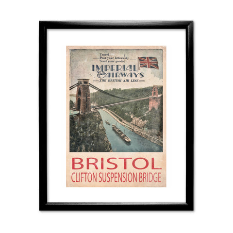 Clifton Suspension Bridge, Bristol 11x14 Framed Print (Black)