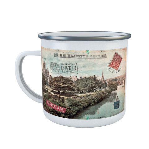 Bath Abbey Enamel Mug