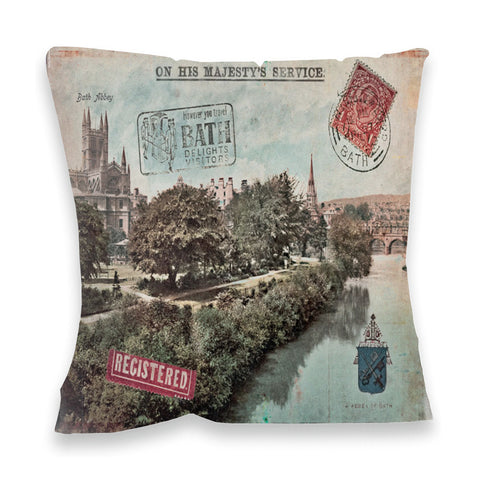 Bath Abbey Fibre Filled Cushion