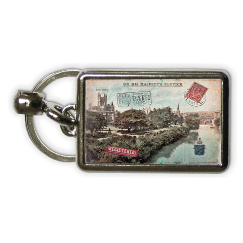 Bath Abbey Metal Keyring