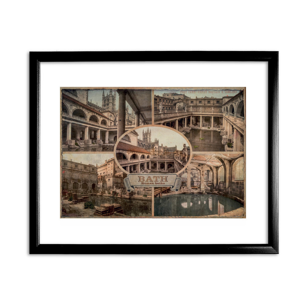 Bath 11x14 Framed Print (Black)