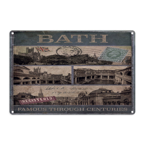 Bath, Famous Through Centuriies Metal Sign