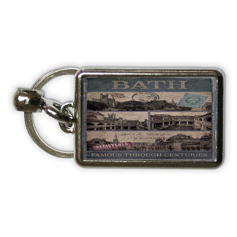 Bath, Famous Through Centuriies Metal Keyring