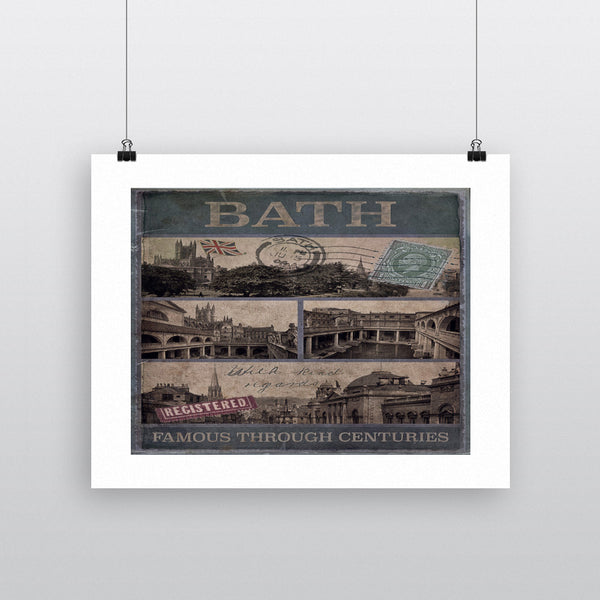 Bath, Famous Through Centuriies 11x14 Print