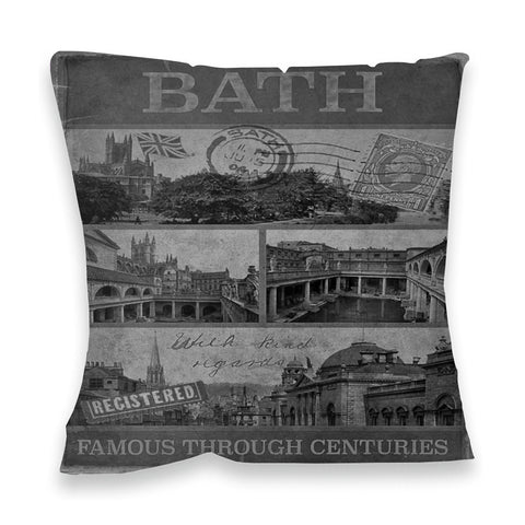 Bath, Famous Through Centuriies Fibre Filled Cushion