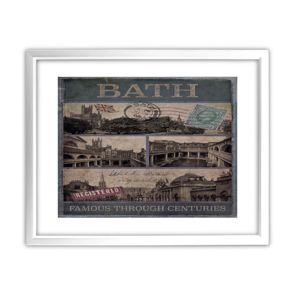 Bath, Famous Through Centuriies 11x14 Framed Print (White)
