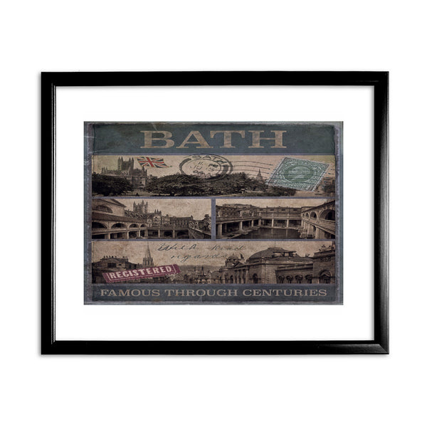 Bath, Famous Through Centuriies 11x14 Framed Print (Black)