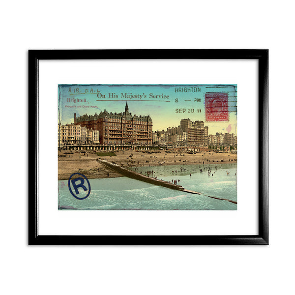 Brighton 11x14 Framed Print (Black)
