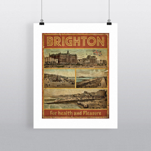 Brighton, For Health and Pleasure 11x14 Print