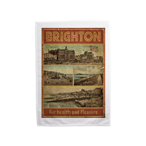 Brighton, For Health and Pleasure Tea Towel