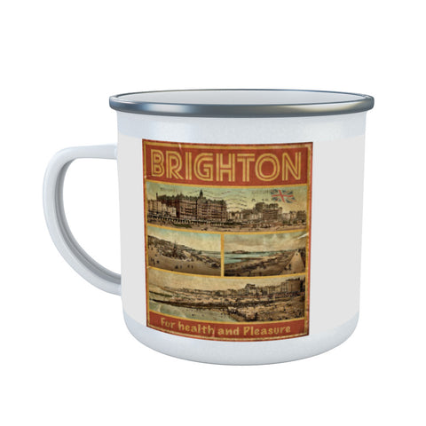 Brighton, For Health and Pleasure Enamel Mug