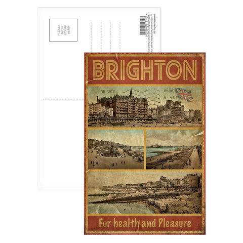 Brighton, For Health and Pleasure Postcard Pack