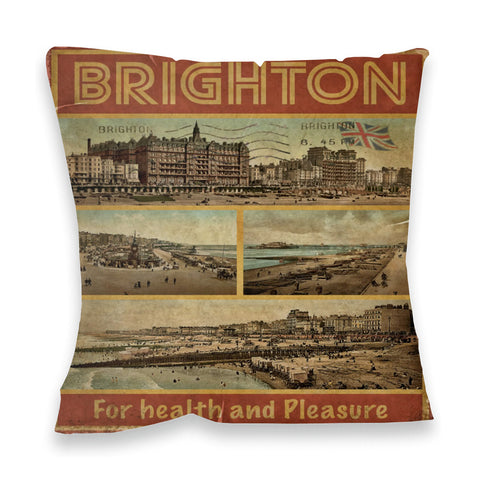 Brighton, For Health and Pleasure Fibre Filled Cushion