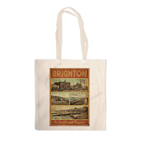 Brighton, For Health and Pleasure Canvas Tote Bag