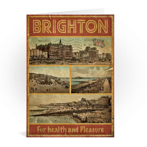 Brighton, For Health and Pleasure Greeting Card 7x5