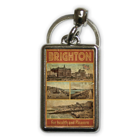 Brighton, For Health and Pleasure Metal Keyring