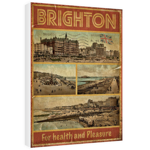 Brighton, For Health and Pleasure 60cm x 80cm Canvas
