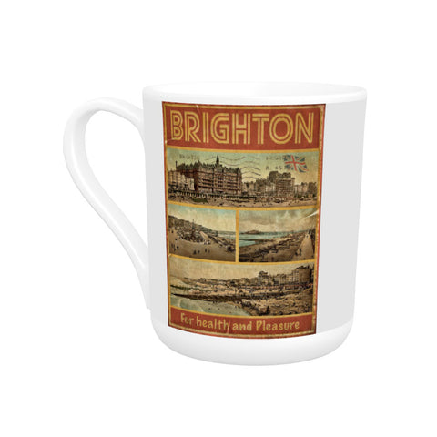 Brighton, For Health and Pleasure Bone China Mug