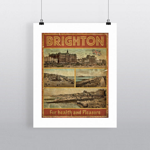 Brighton, For Health and Pleasure 90x120cm Fine Art Print
