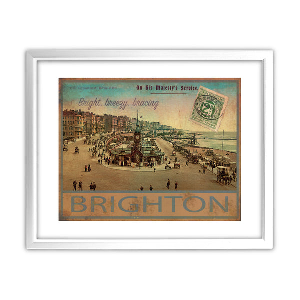 Brighton 11x14 Framed Print (White)