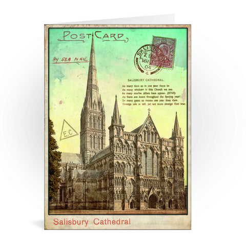 Sailsbury Cathedral, Wiltshire Greeting Card 7x5