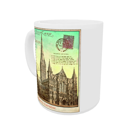 Sailsbury Cathedral, Wiltshire Coloured Insert Mug