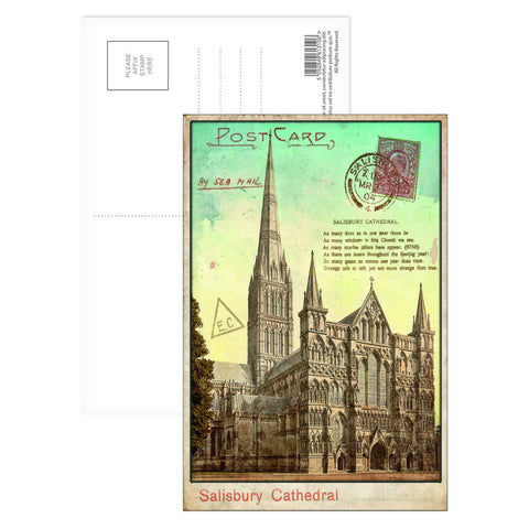 Sailsbury Cathedral, Wiltshire Postcard Pack