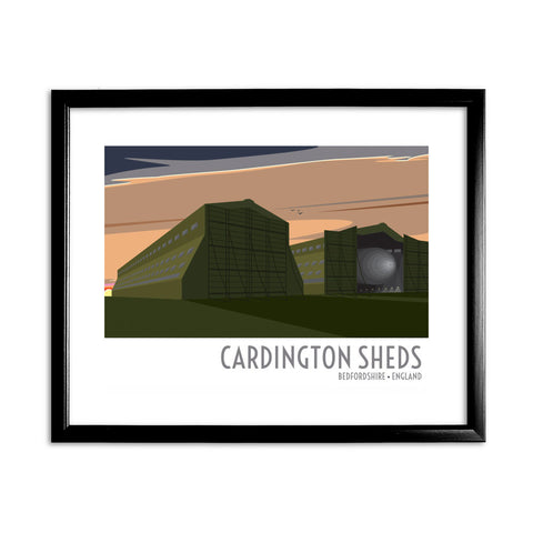 The Cardington Sheds, Bedfordshire 11x14 Framed Print (Black)
