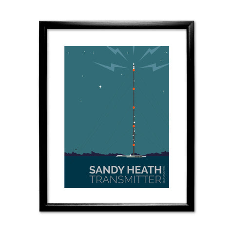 The Sandy Heath Transmitter, Bedfordshire 11x14 Framed Print (Black)