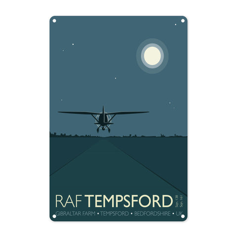 RAF Tempsford, Bedfordshire Metal Sign